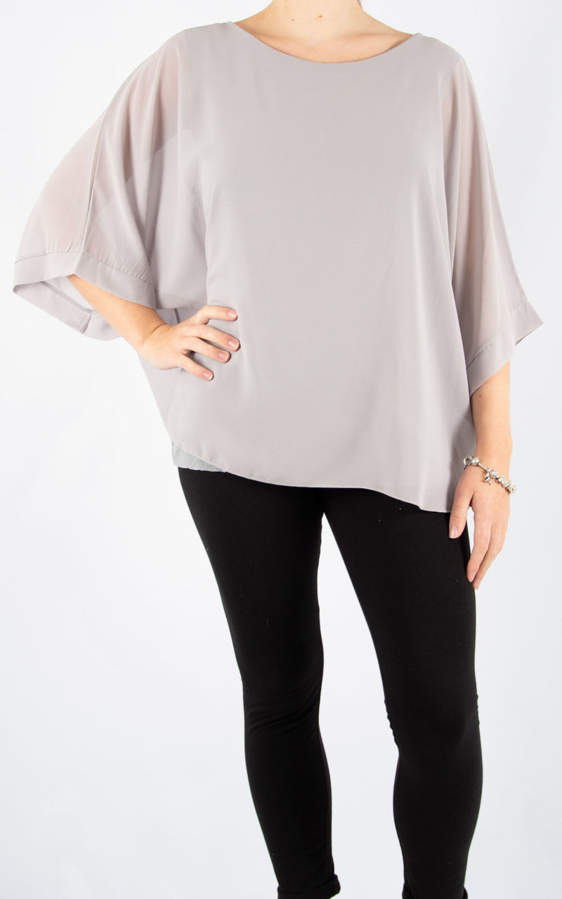 Jade Batwing Light Grey | Made In Italy
