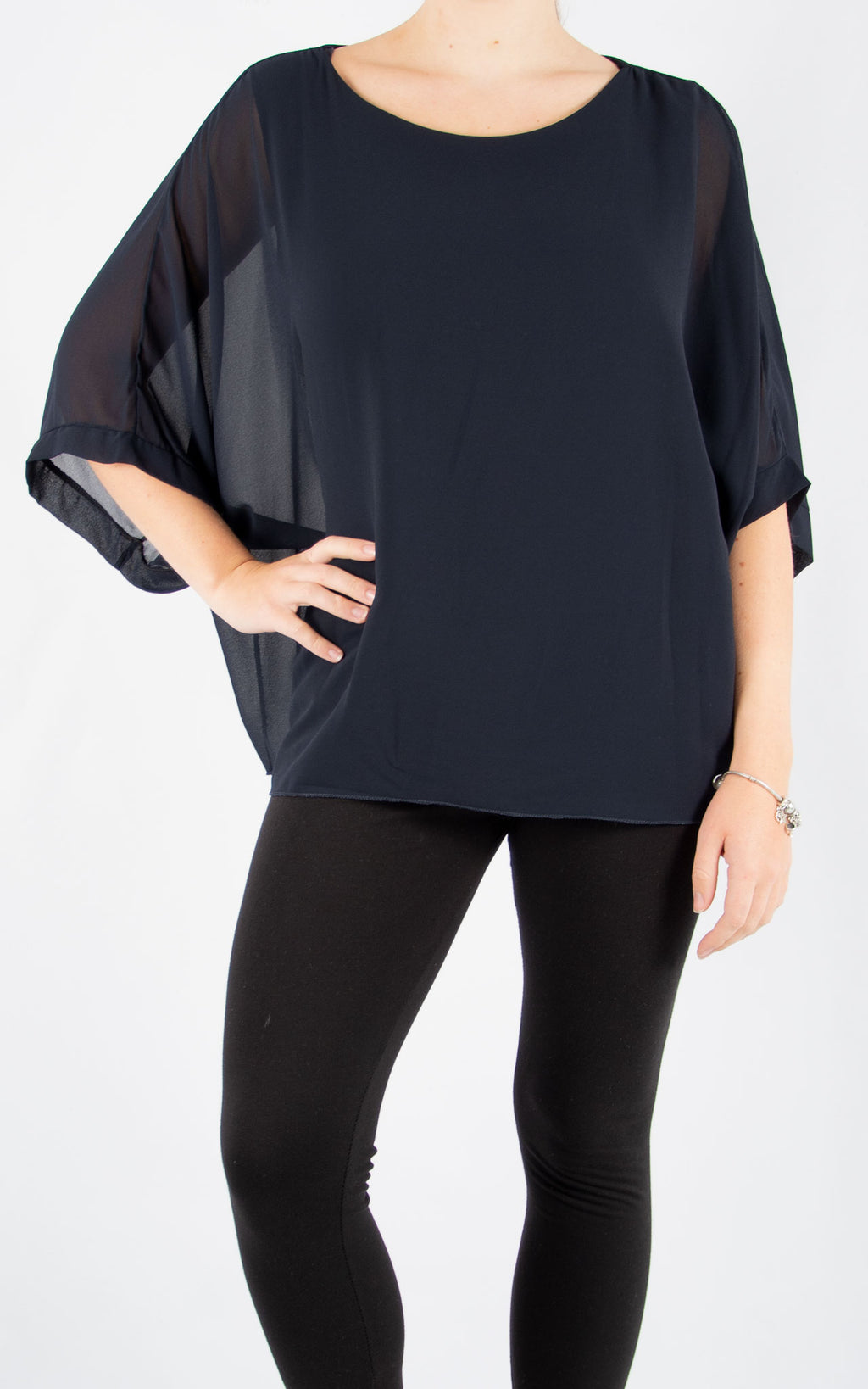 Jade Batwing Navy | Made In Italy