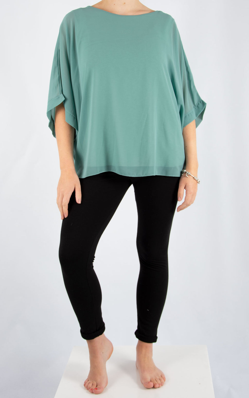 Jade Batwing Aqua | Made In Italy