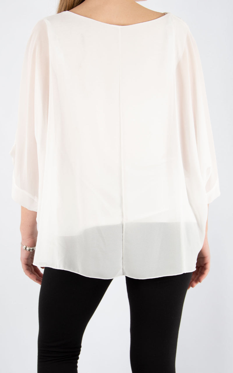 Jade Batwing White | Made In Italy