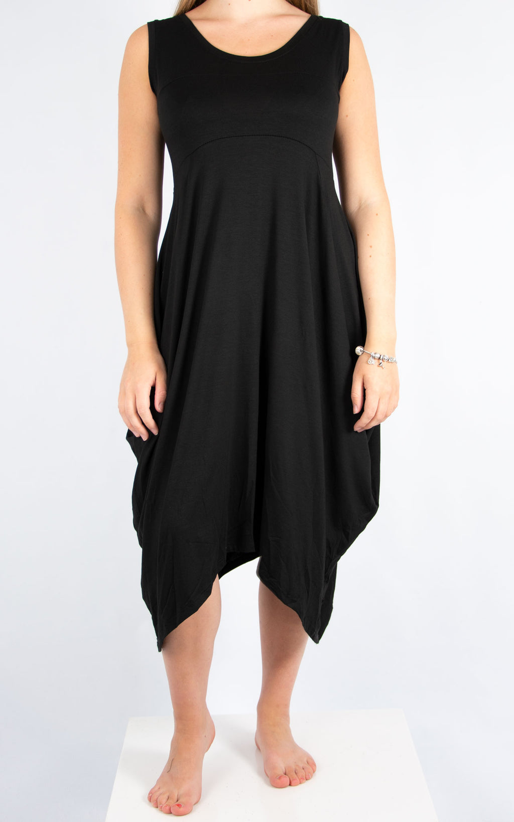 Black Simple Dress | Made In Italy