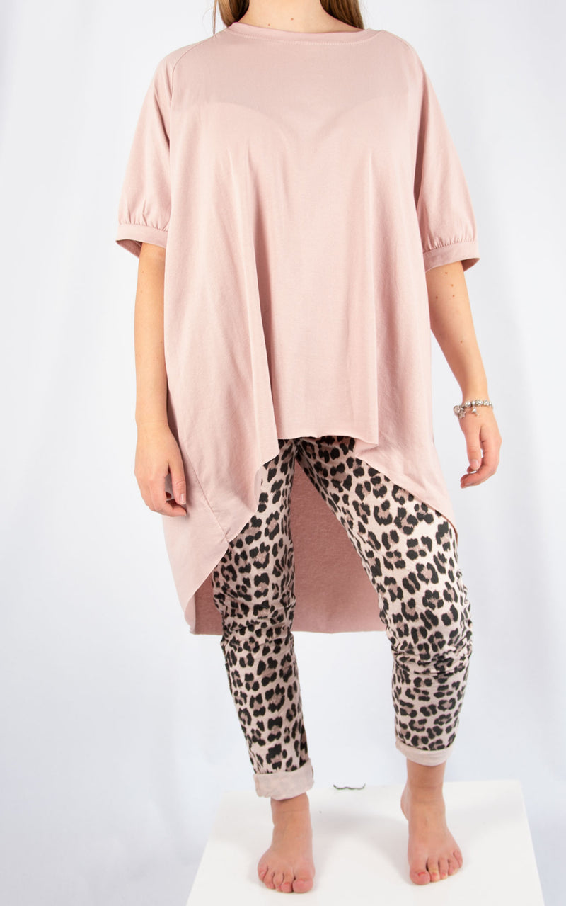 Pink Leopard Joggers | Made in Italy