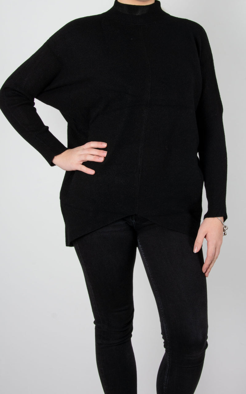 Jo Ribbed Knit | Black