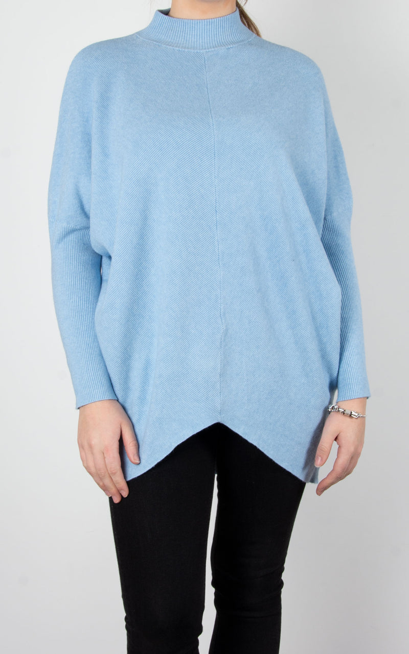 Jo Ribbed Knit | Sky Blue