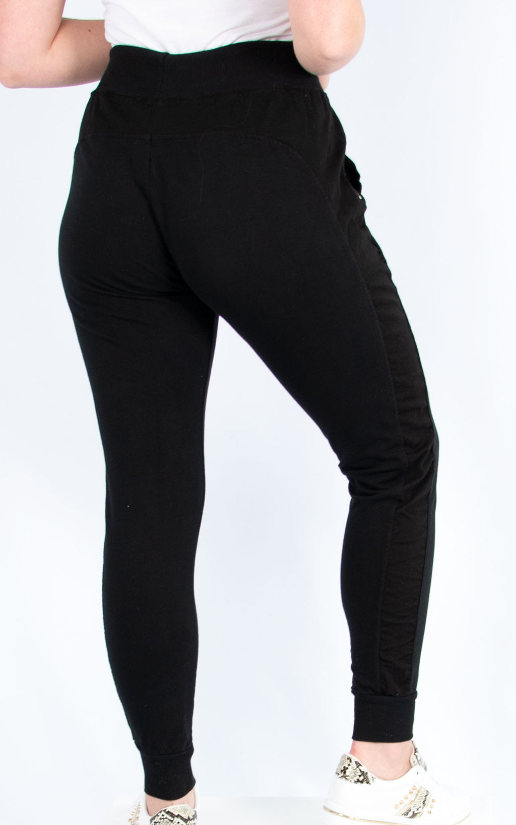 Zip Pocket Joggers Black