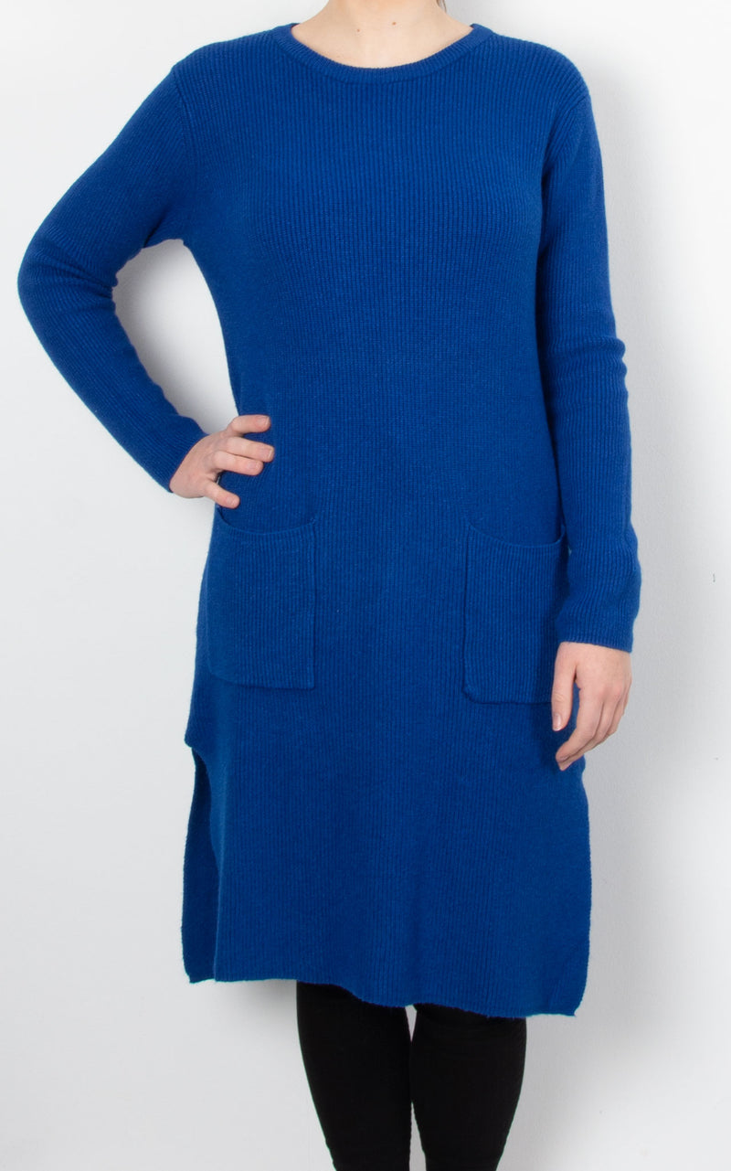 Jordan Pocket Knit Dress | Cobalt