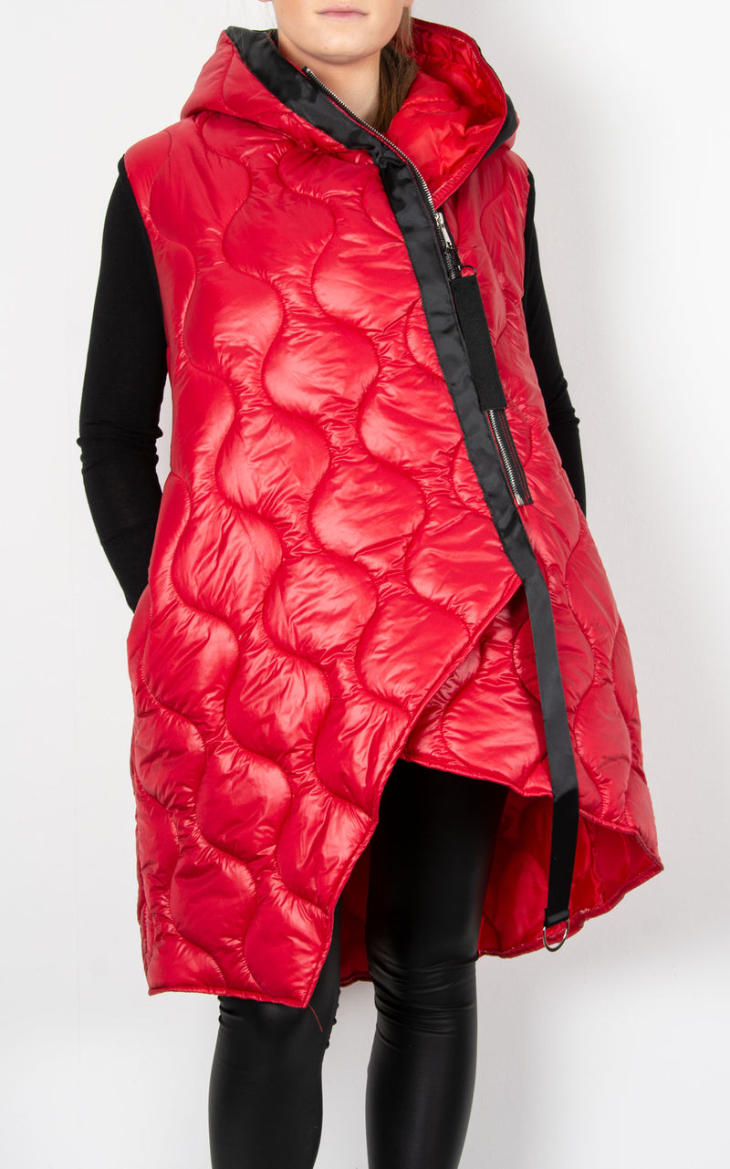Josie Zip Gillet | Red