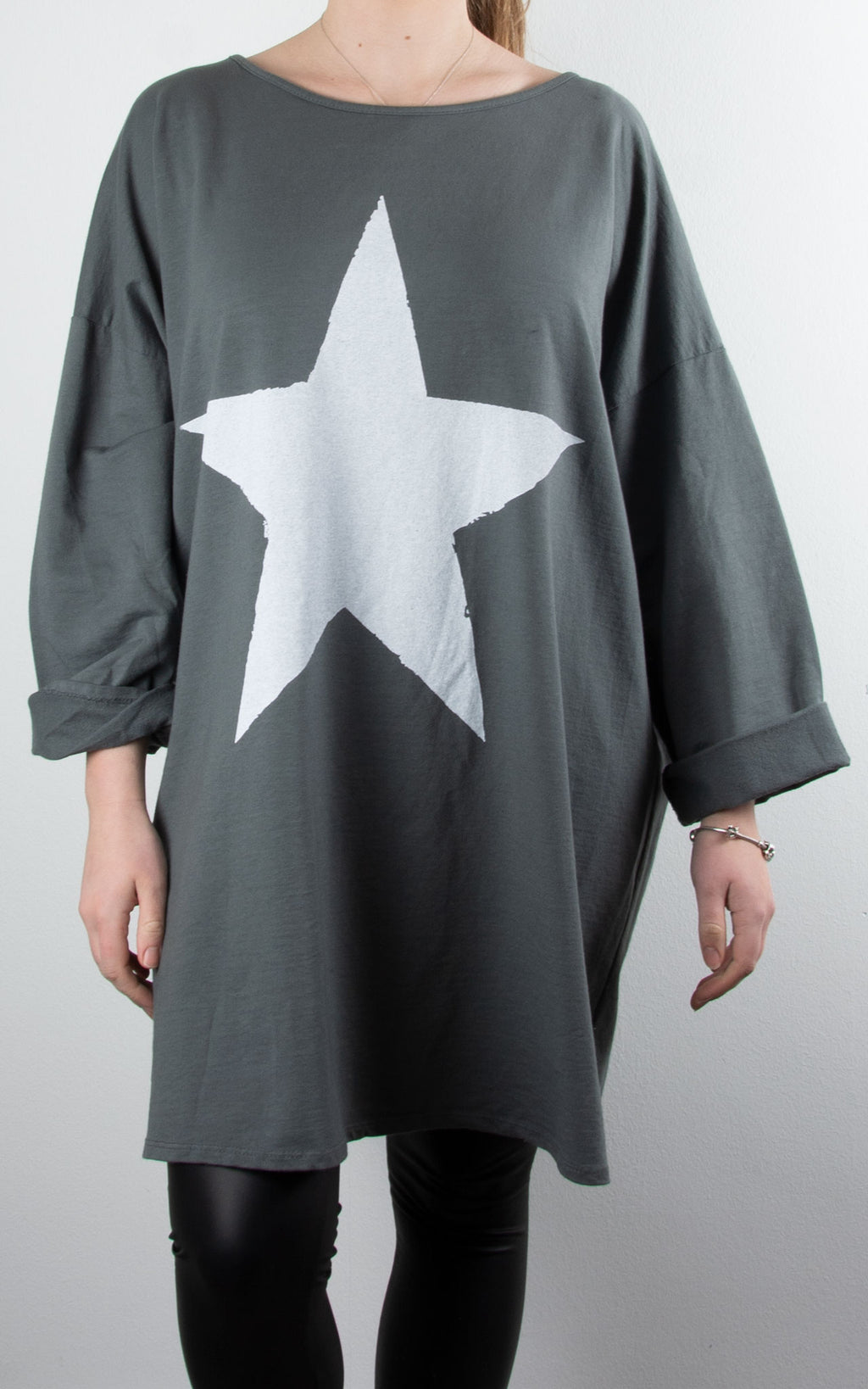 Kate Sweat | Grey Star Print
