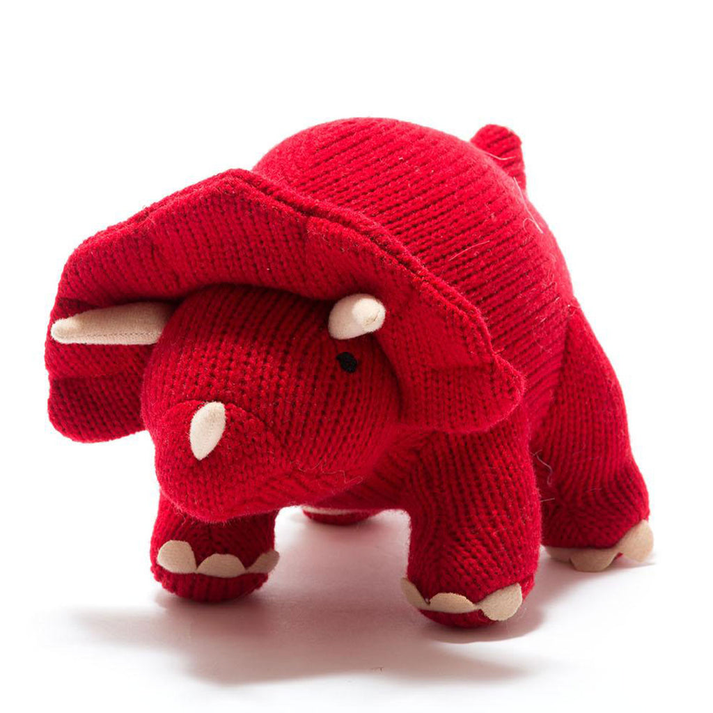 Knitted Dino Med  | Triceratops