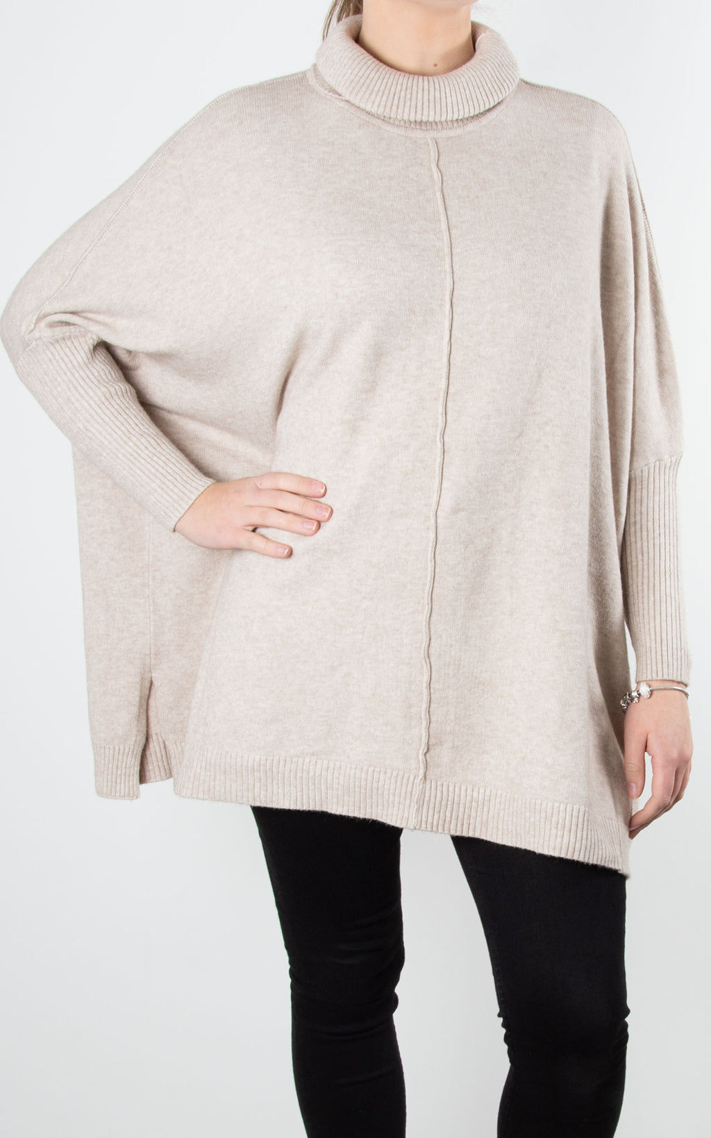 Lana Roll Neck Knit | Oatmeal