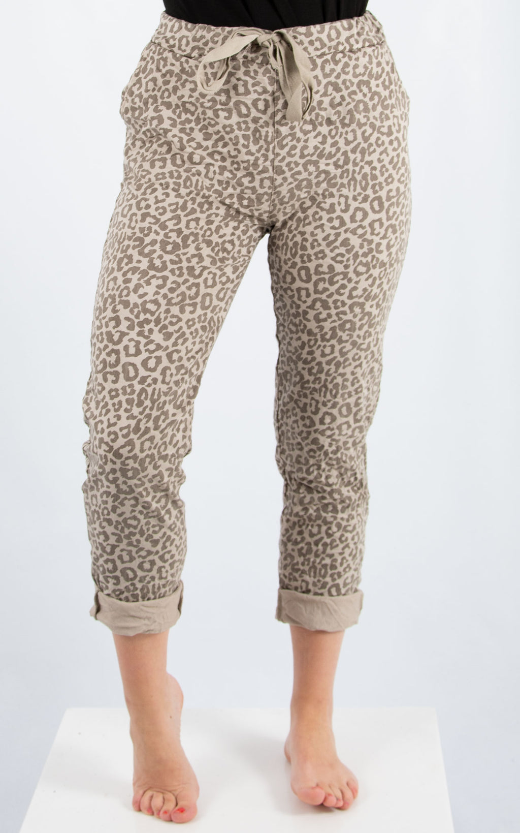 Magic Jogger : Beige Leopard | Made In Italy