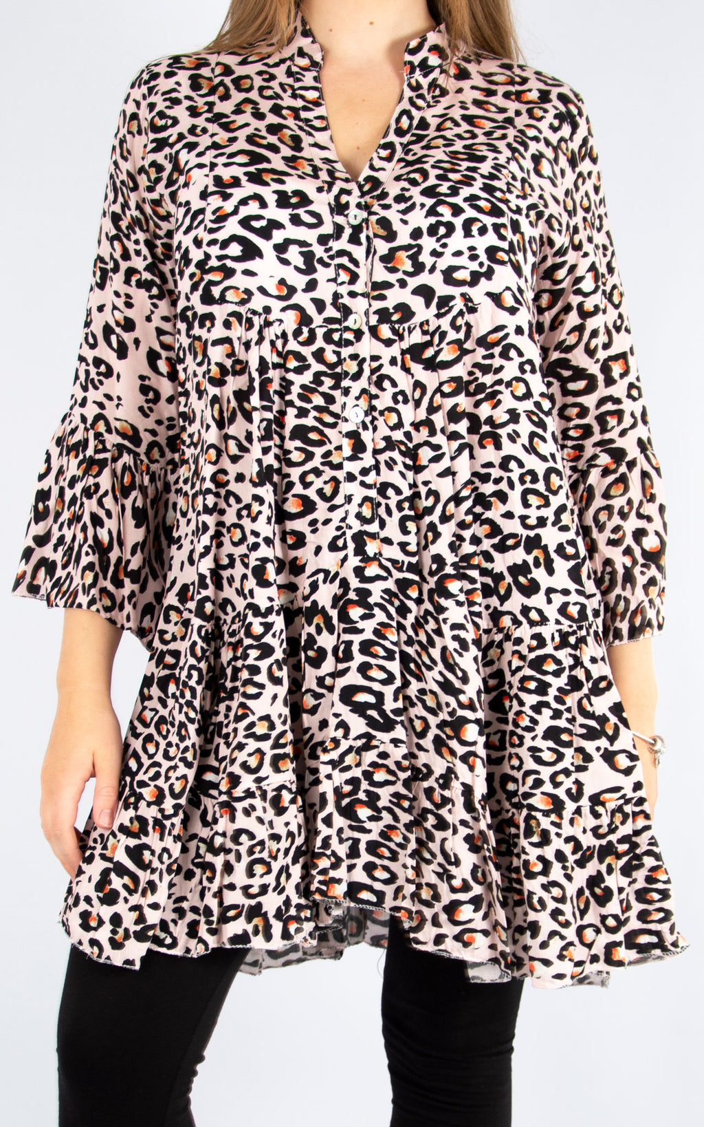 Pink Leopard Smock | Made in Italy
