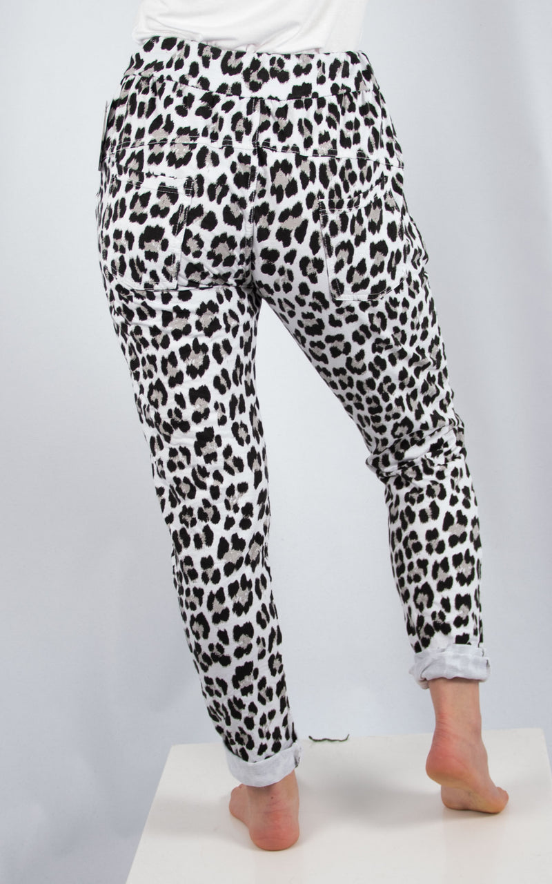 White Leopard Joggers | Made in Italy