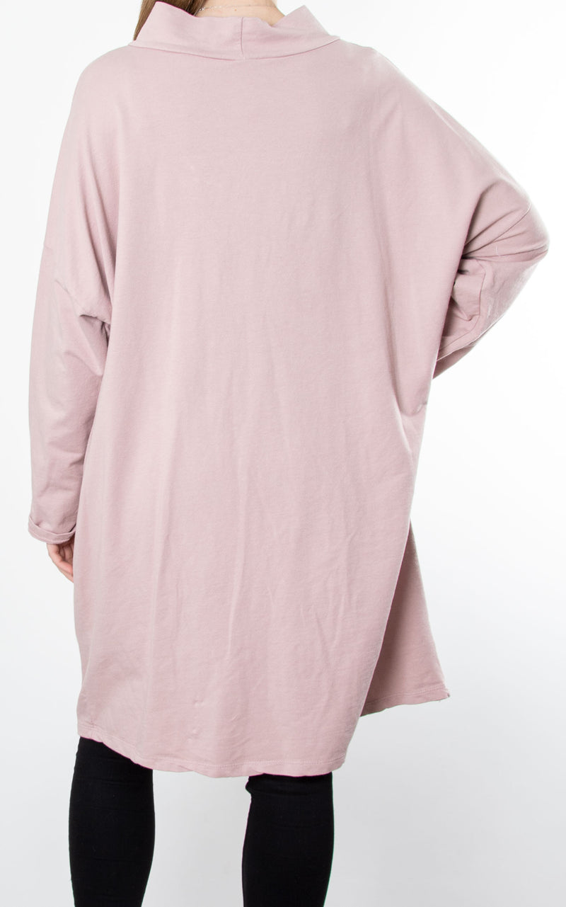 Linda Zip Sweat | Pink
