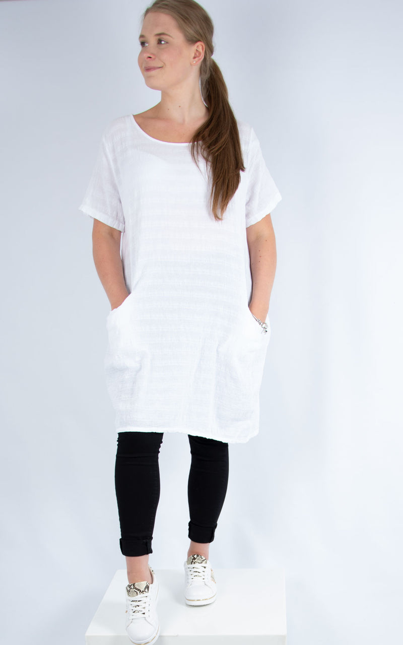 White Cotton Tunic | Made in Italy