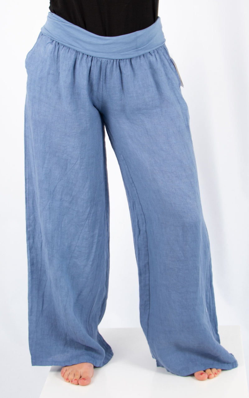 Lucy Linen Trousers | Blue