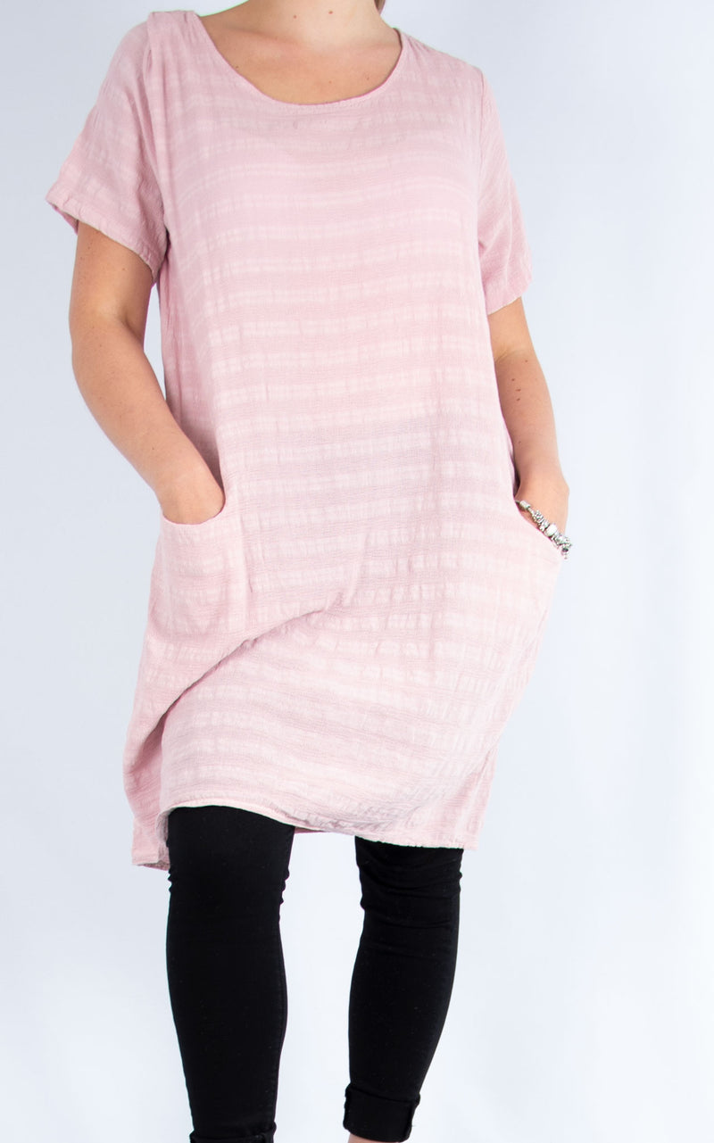 Pink Cotton Tunic | Made in Italy