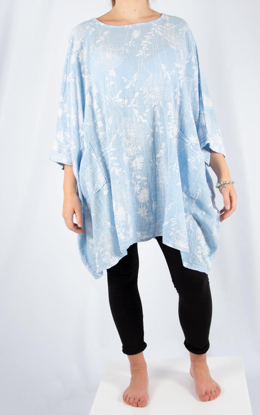 Blue Liz Floral Pocket Oversized T