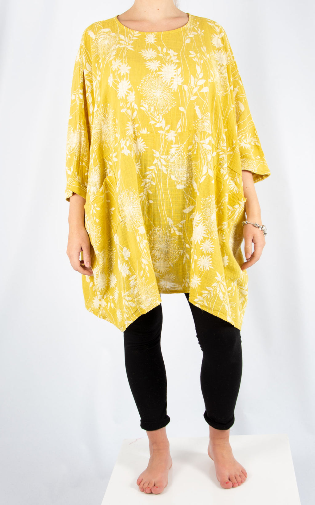 Yellow Liz Floral Pocket Oversized T