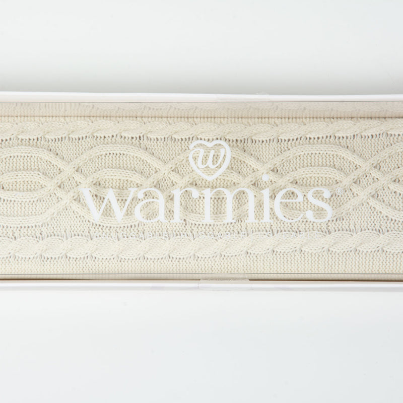 Long Hot Water Bottle |Cream Knit