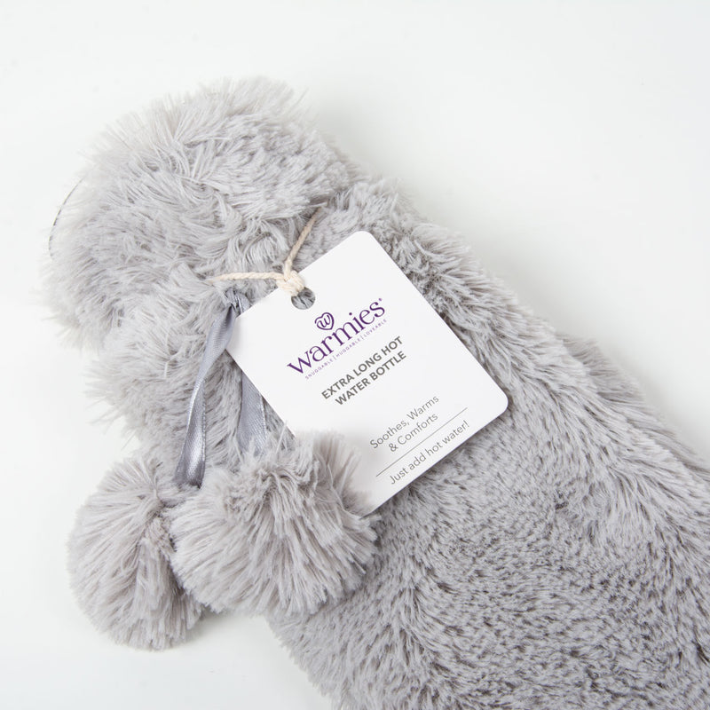 Long Hot Water Bottle | Grey Fur