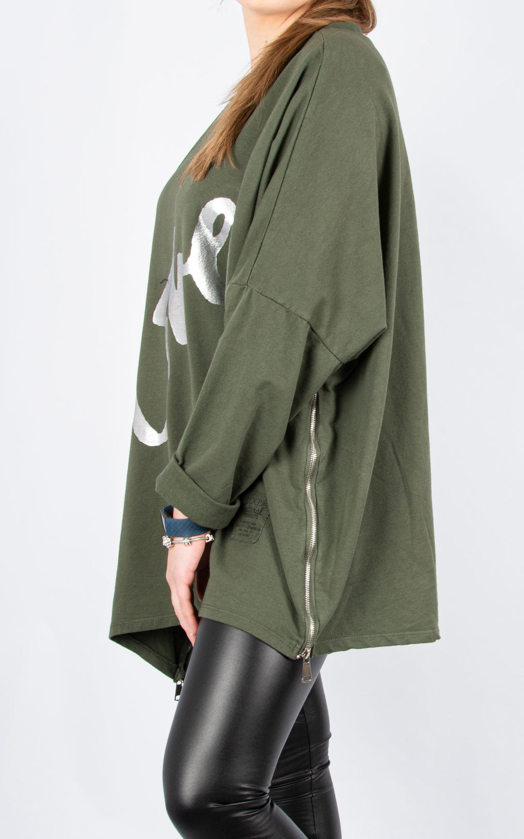 Love Zip Sweat | Khaki