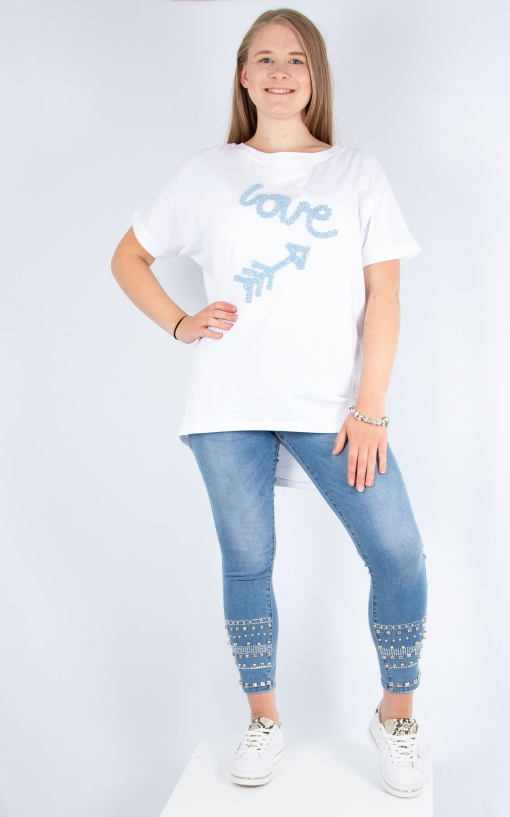 Blue Love T-Shirt | Made in Italy