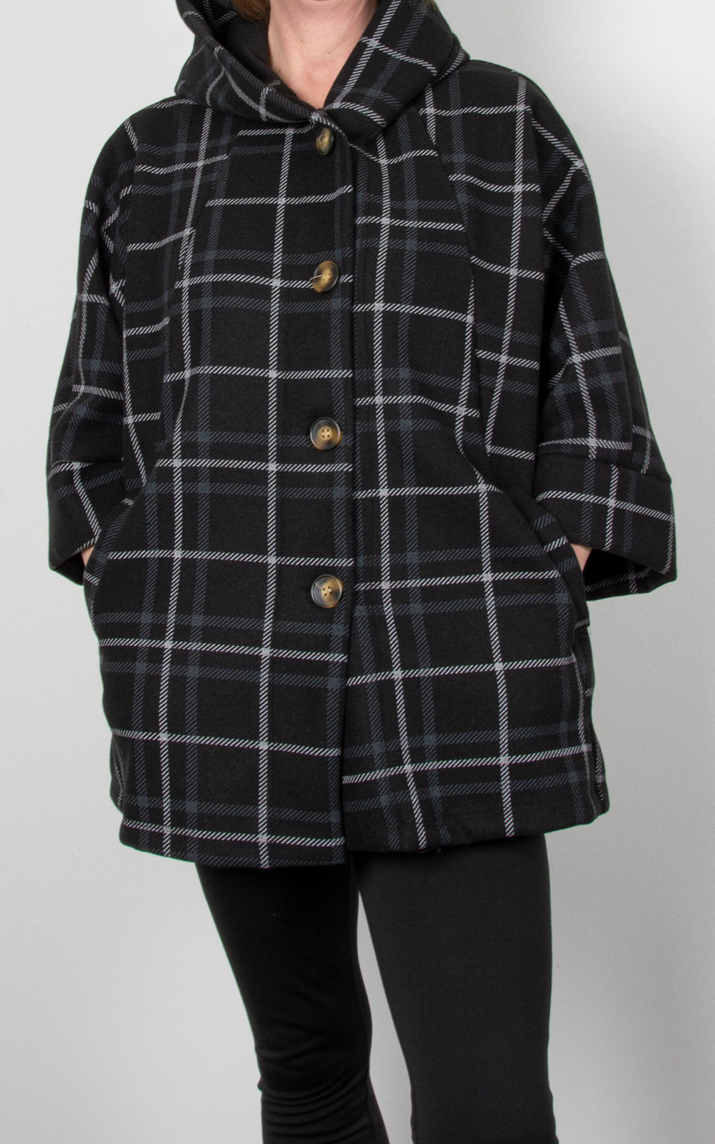 Lucy Swing Coat| Black