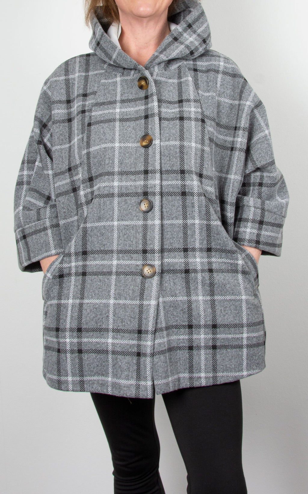 Lucy Swing Coat| Grey