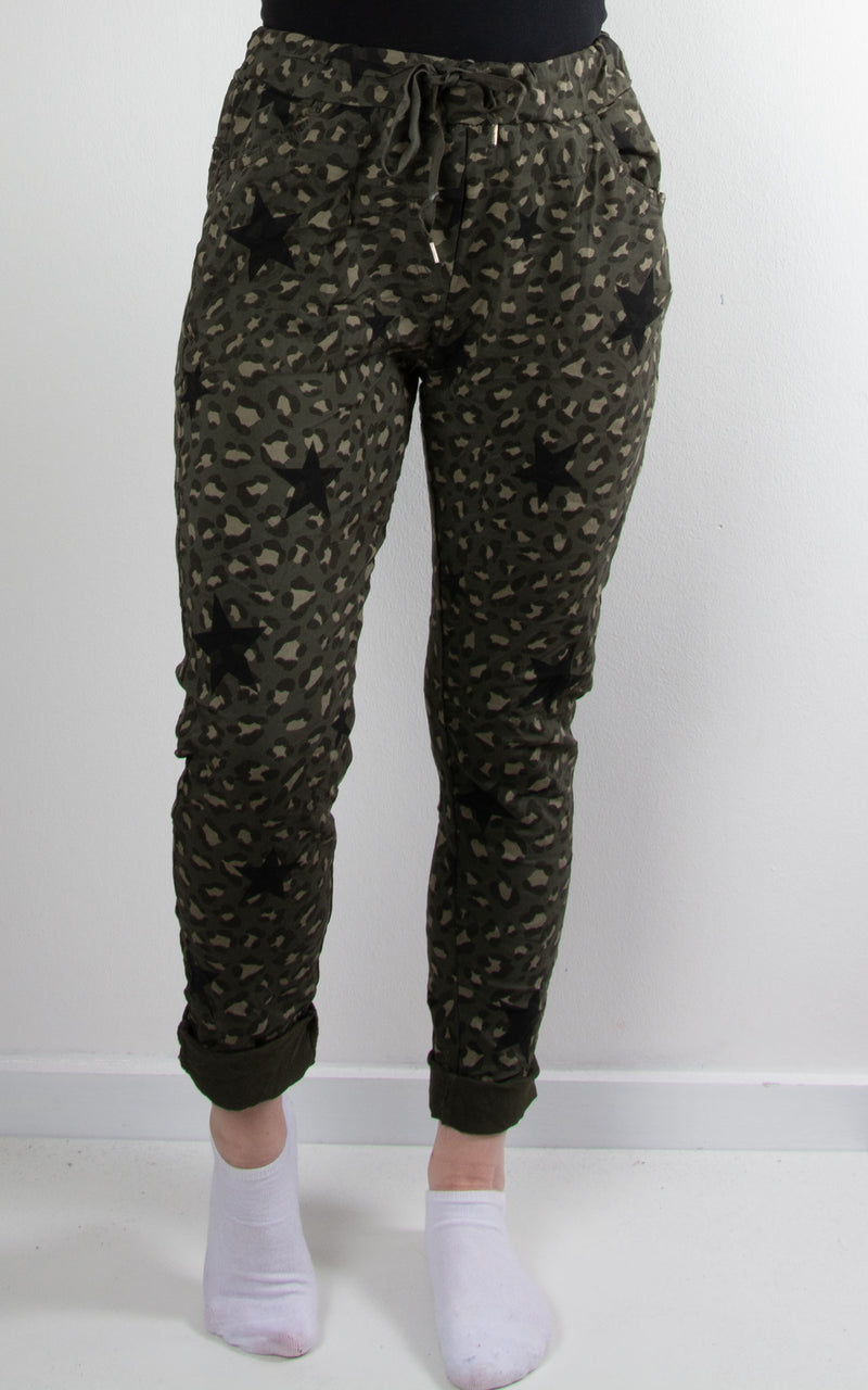Magic Jogger | Leopard Star | Khaki