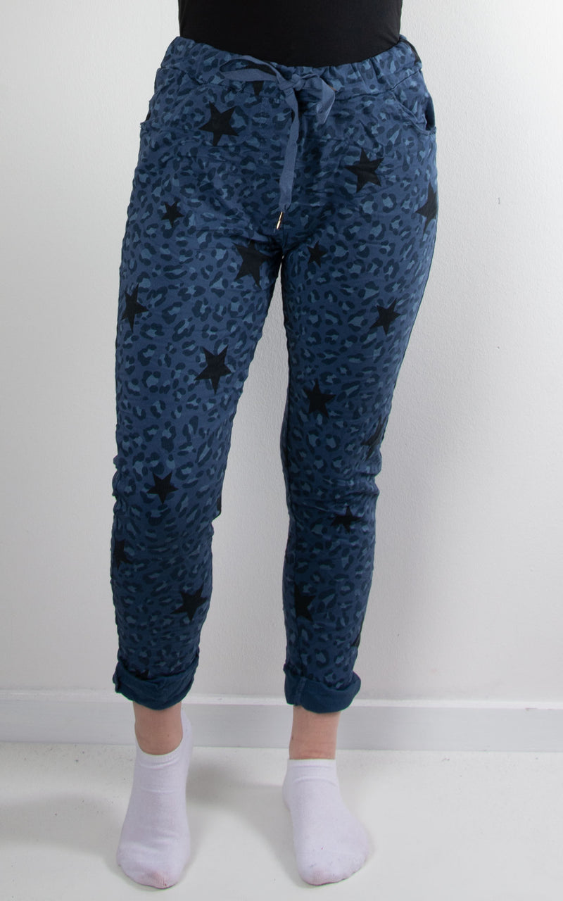 Magic Jogger | Leopard Star | Navy