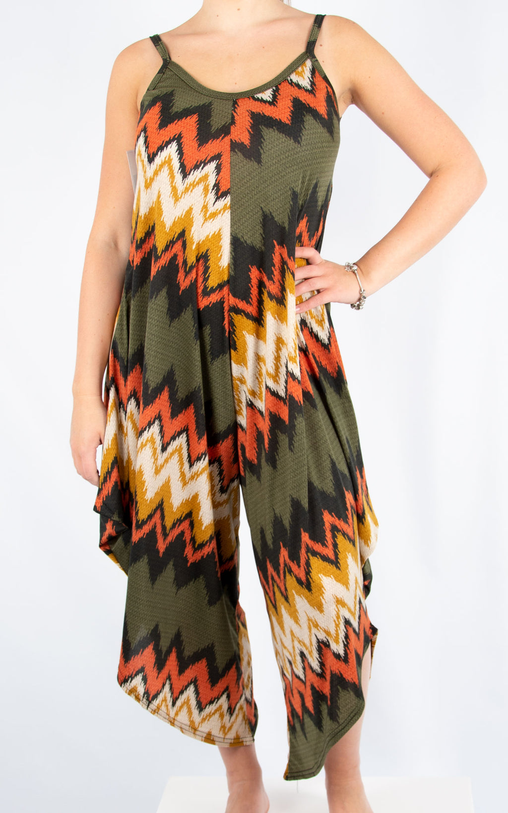 Khaki Magic Pattern Jumpsuit