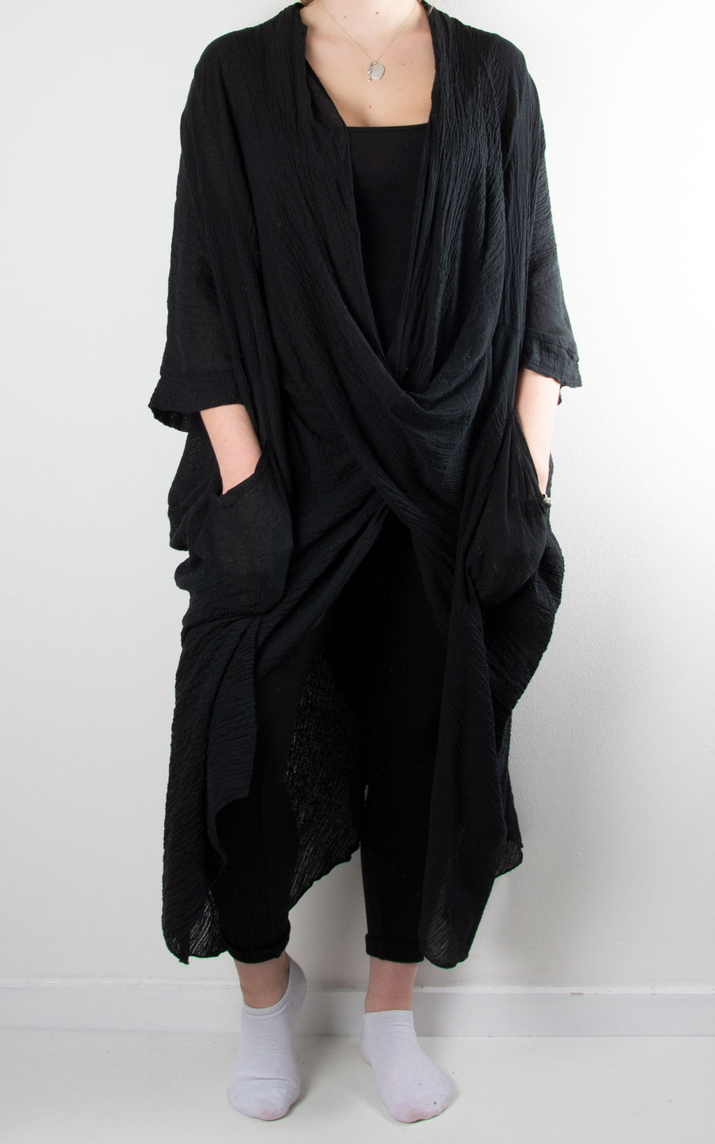 May Wrap Tunic | Black