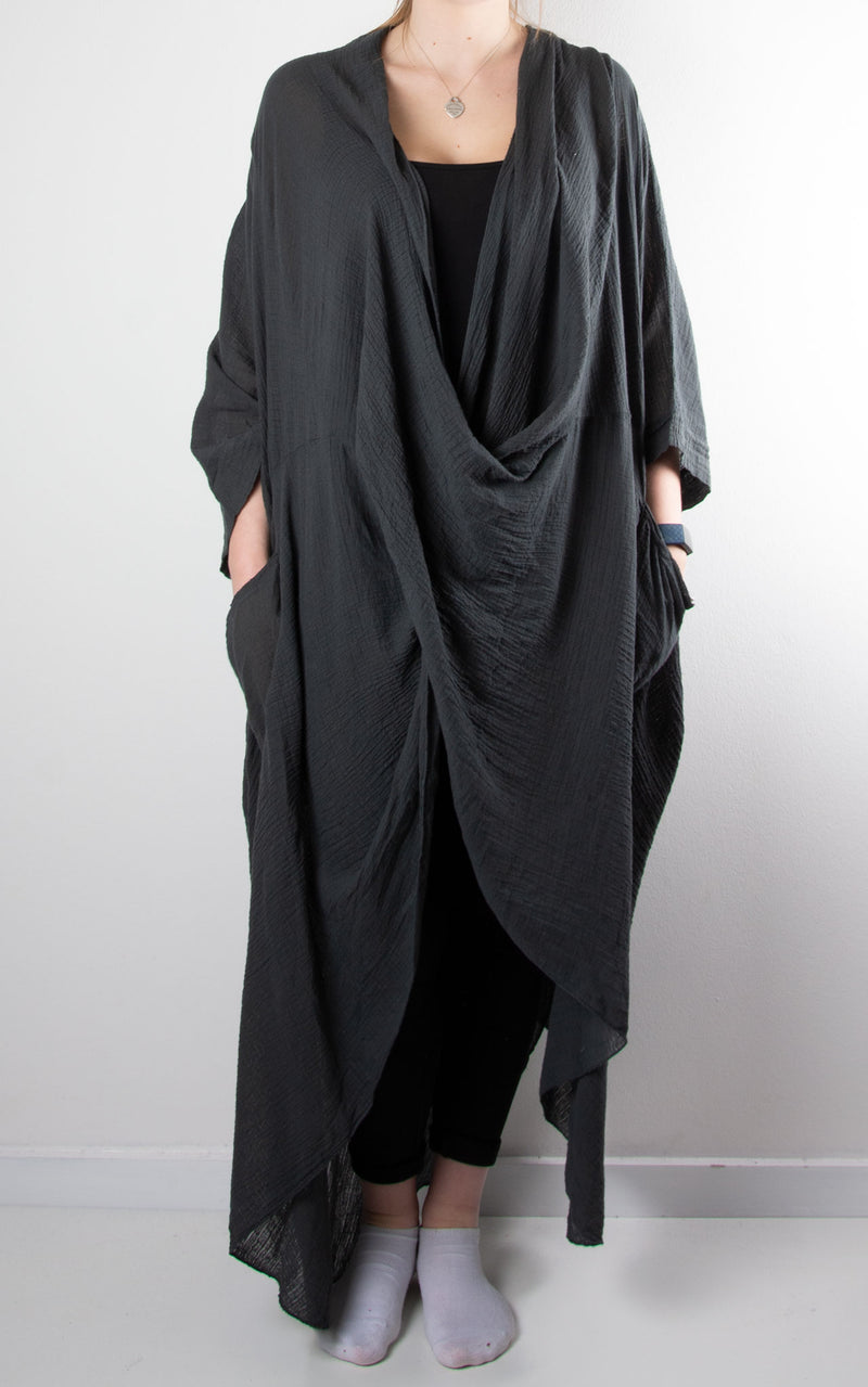 May Wrap Tunic | Charcoal