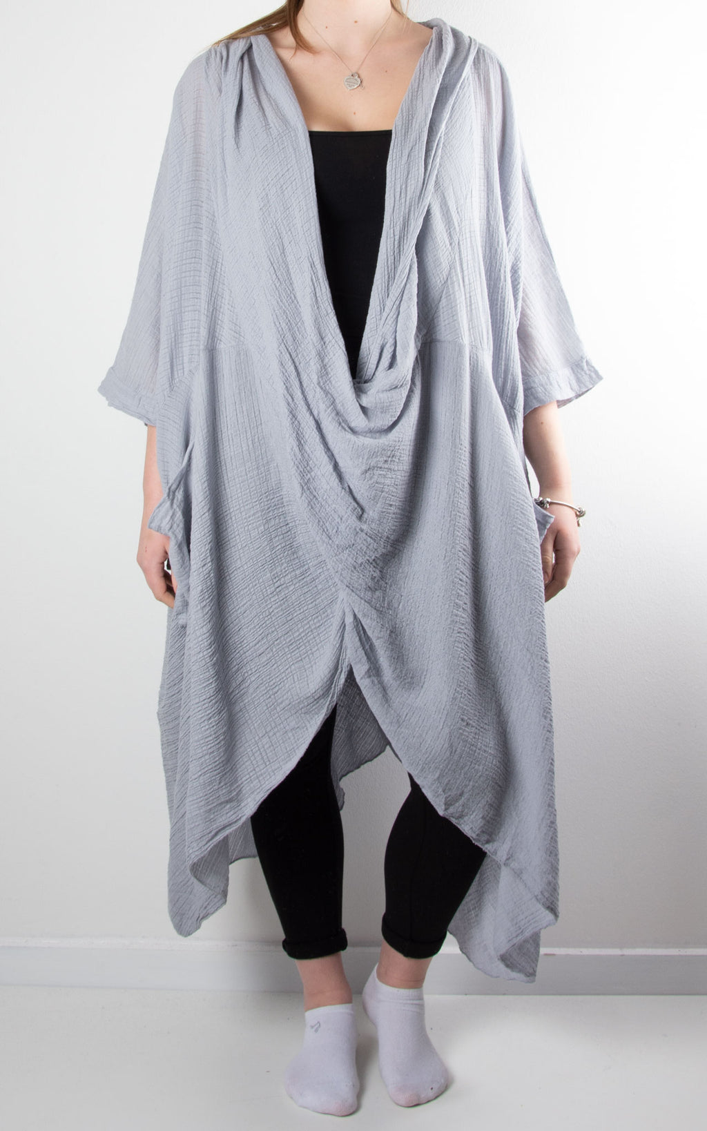 May Wrap Tunic | Light Grey