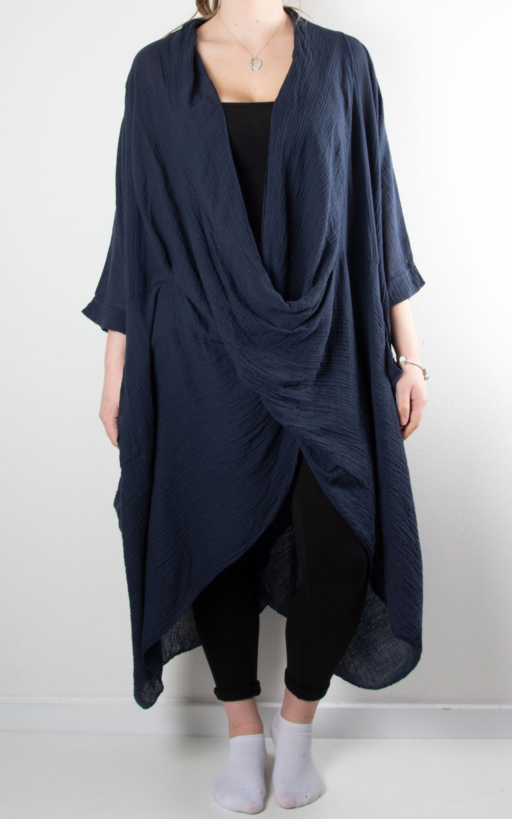 May Wrap Tunic | Navy
