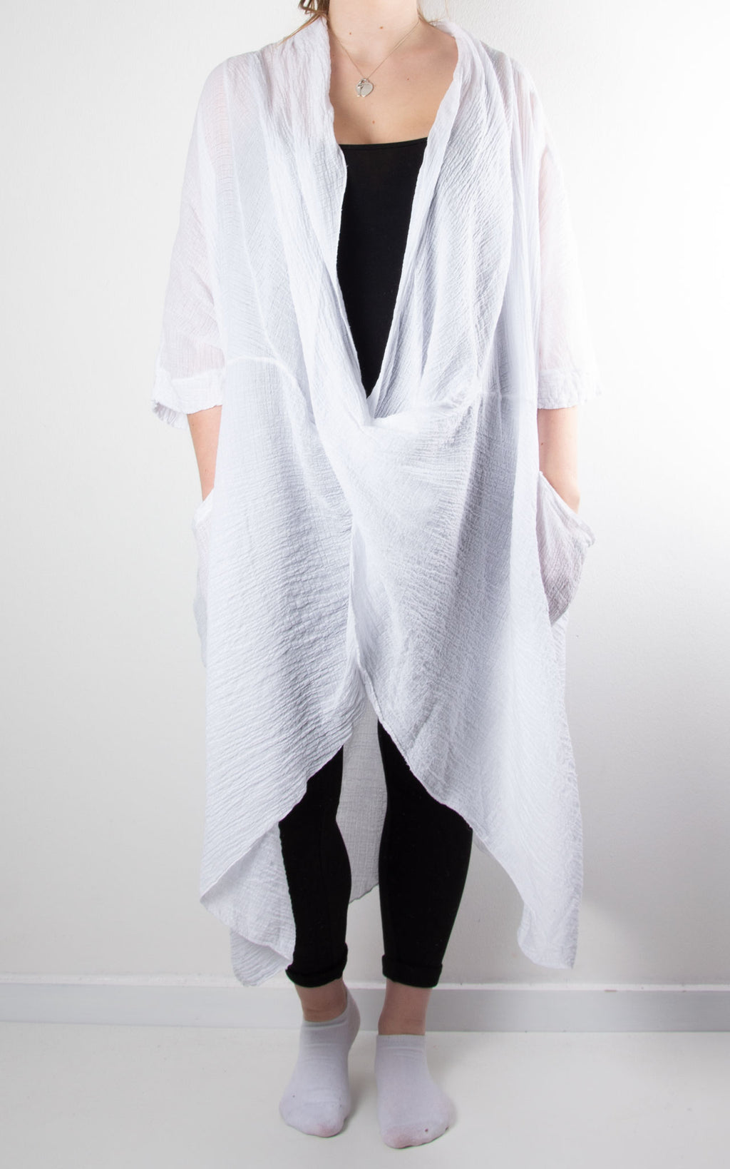 May Wrap Tunic | White