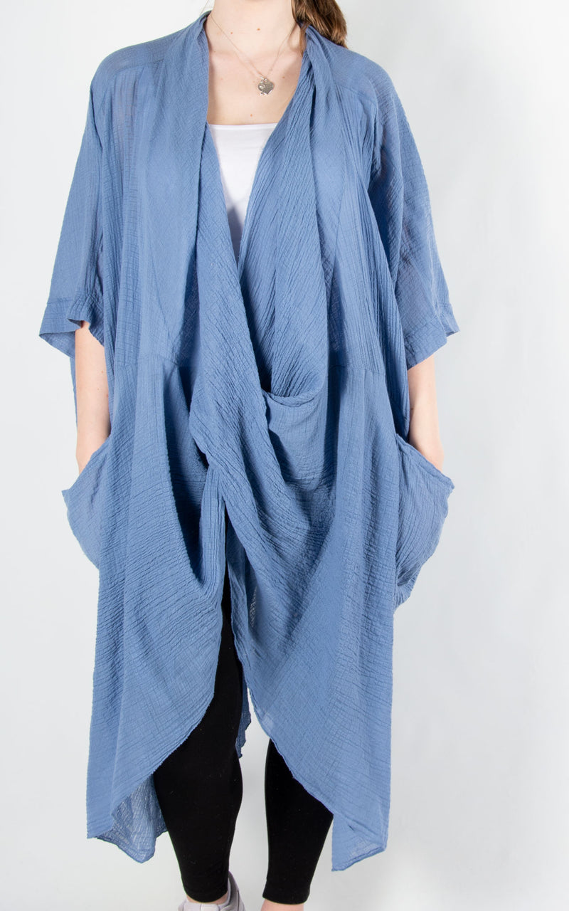 May Wrap Tunic | Denim