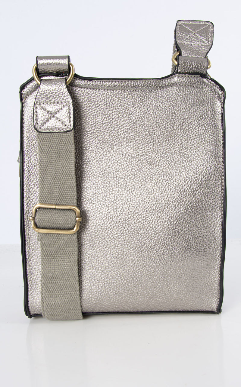 Messenger Bag | Metallic Grey