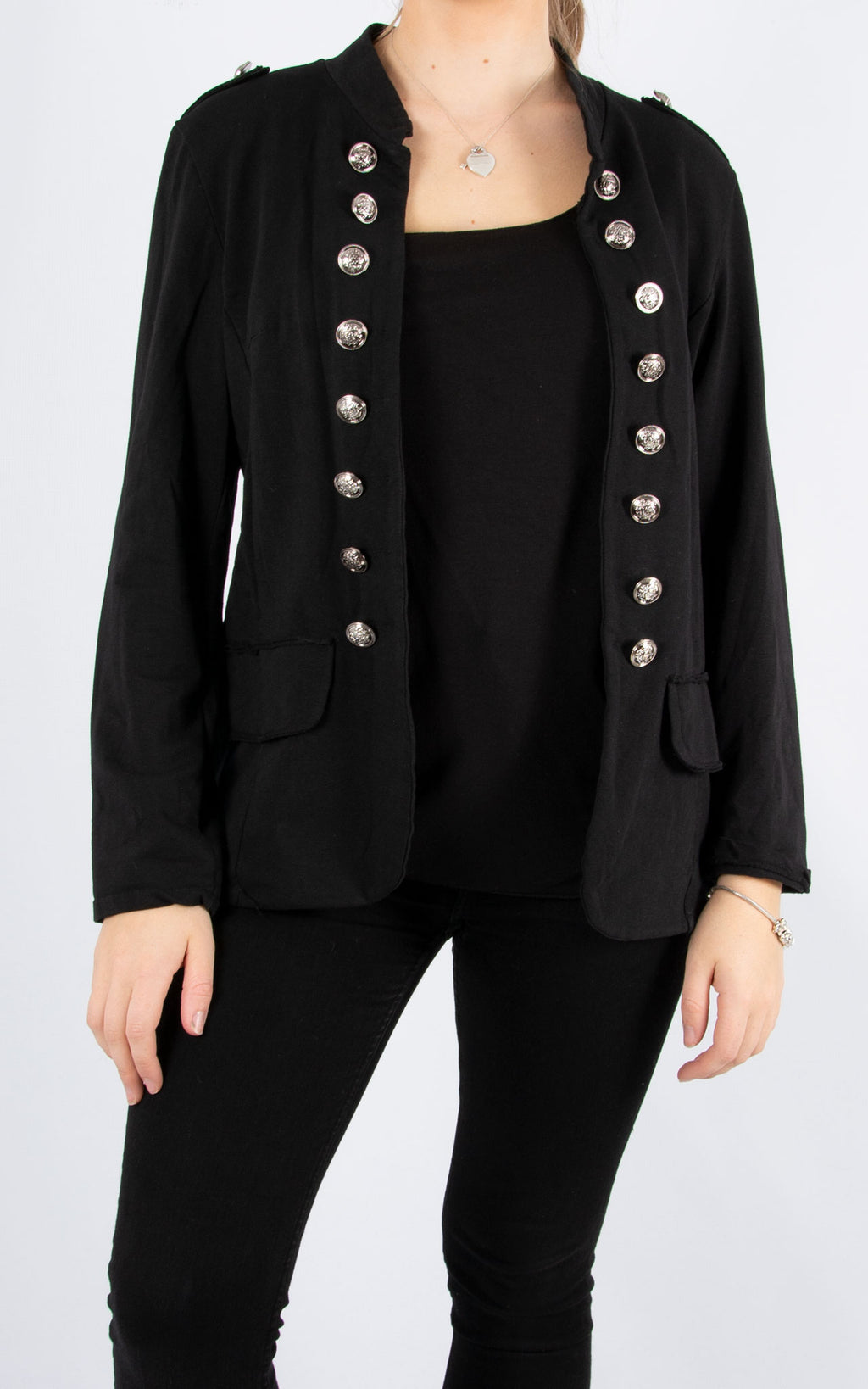 Military Style Jacket | Black