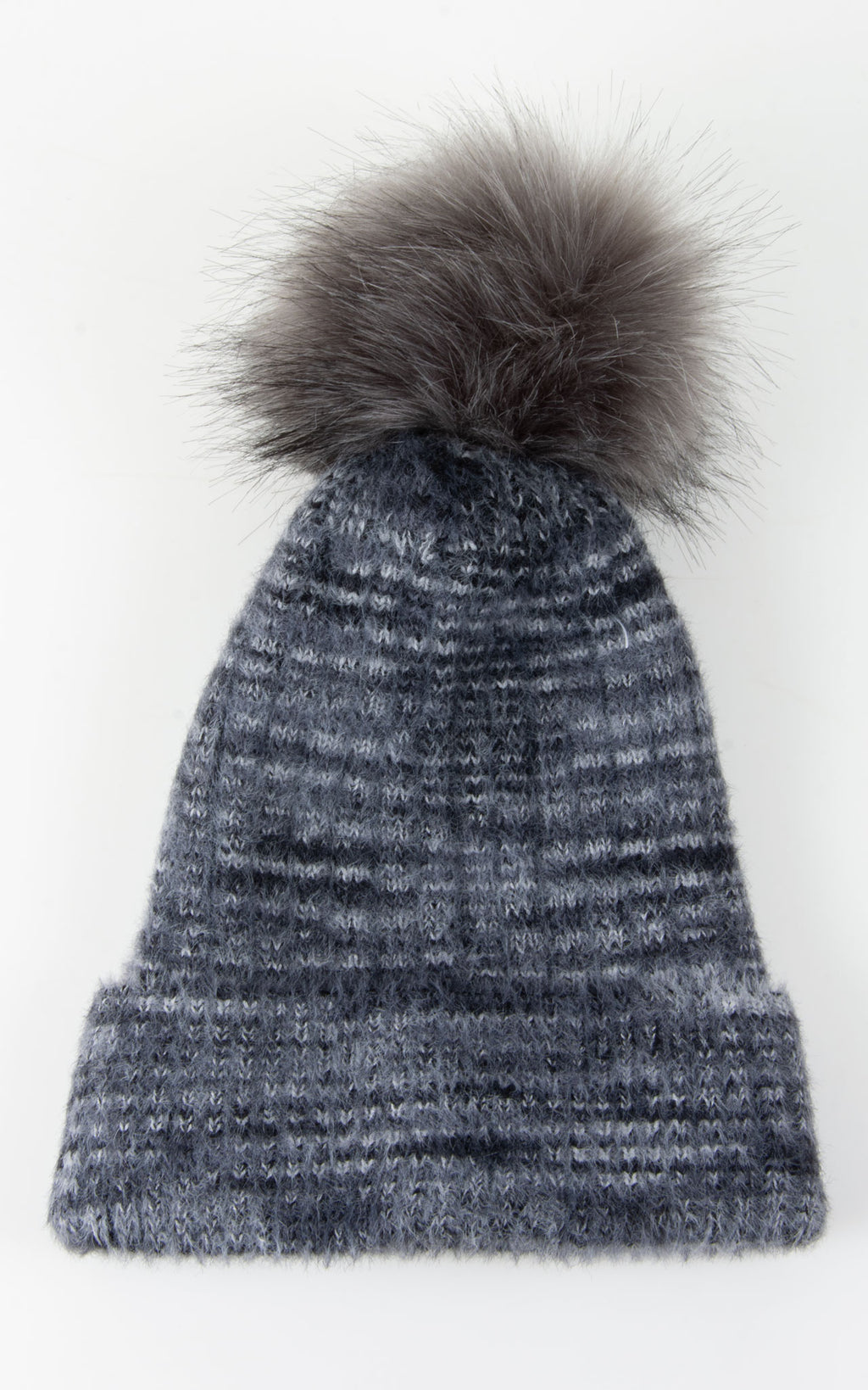 Multi Knit Bobble Hat | Grey