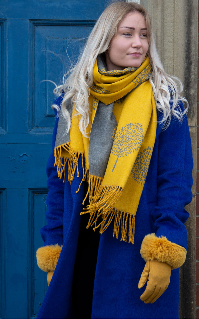 Mustard Blanket Scarf - Mulberry Tree
