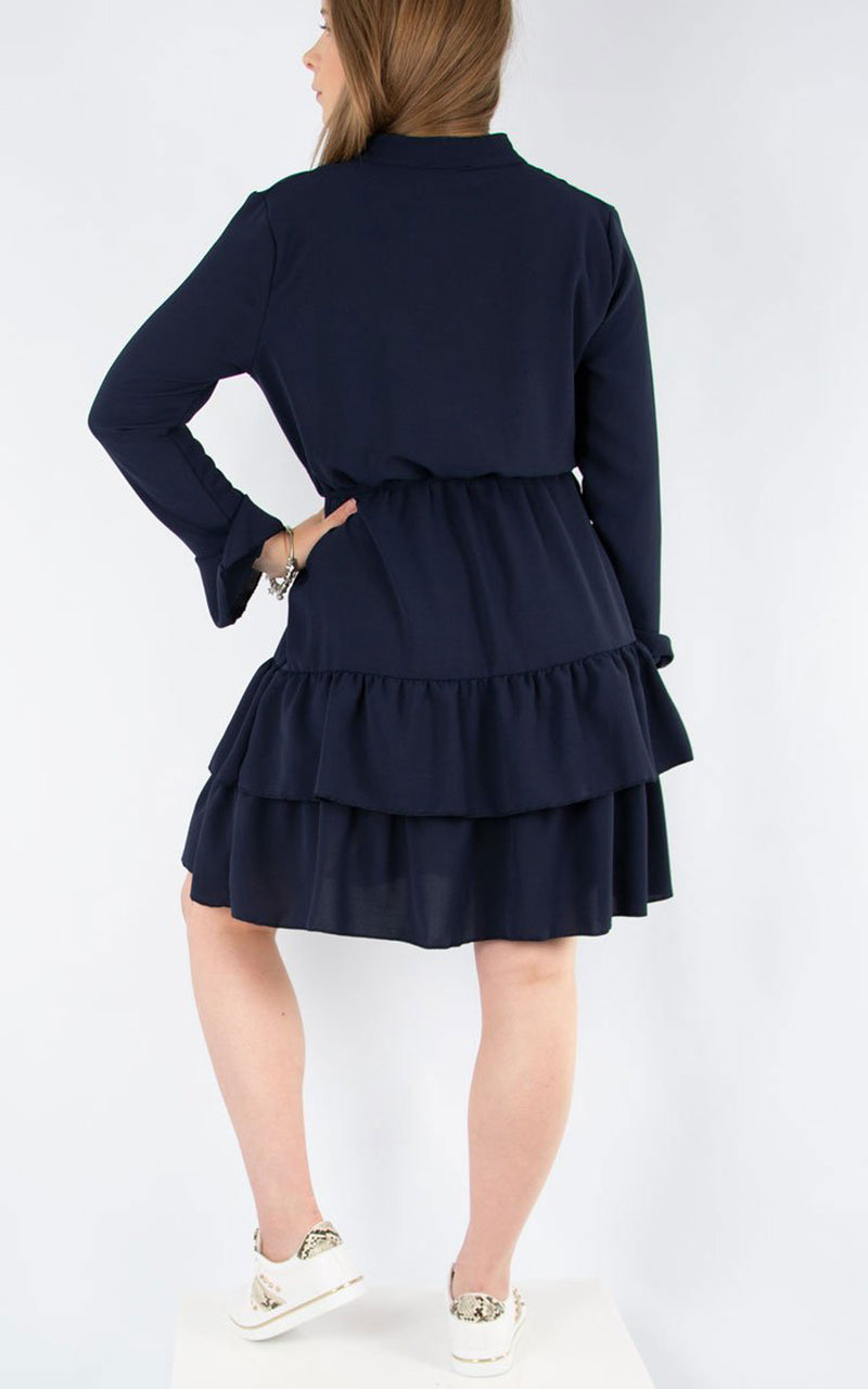 Plain Tea Dress | Navy