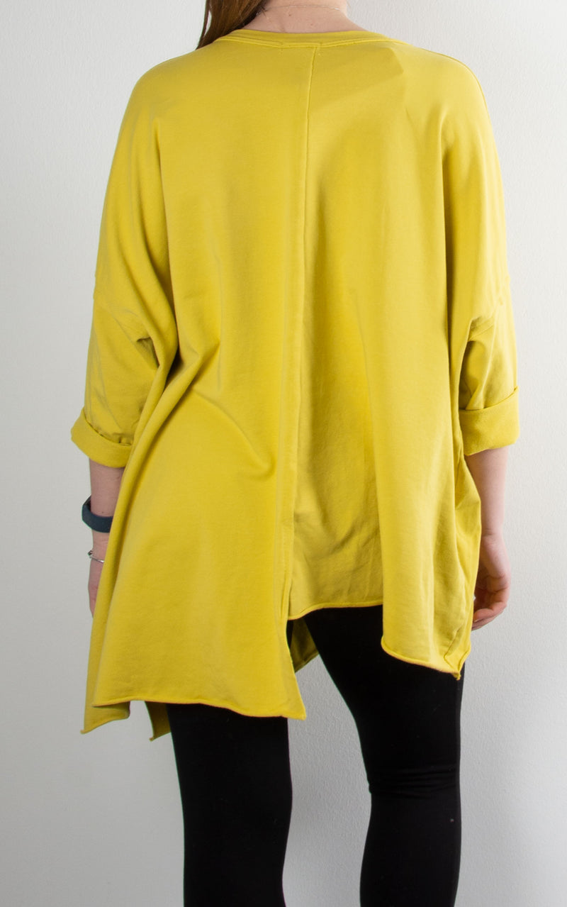 Nova V Neck Sweat | Yellow