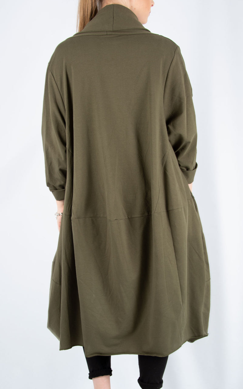 Khaki Loose Overcoat