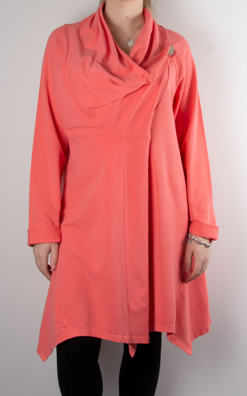 One Button Cowl | Coral