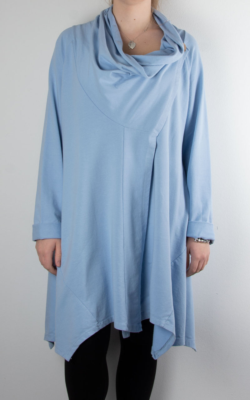 One Button Cowl | Sky Blue