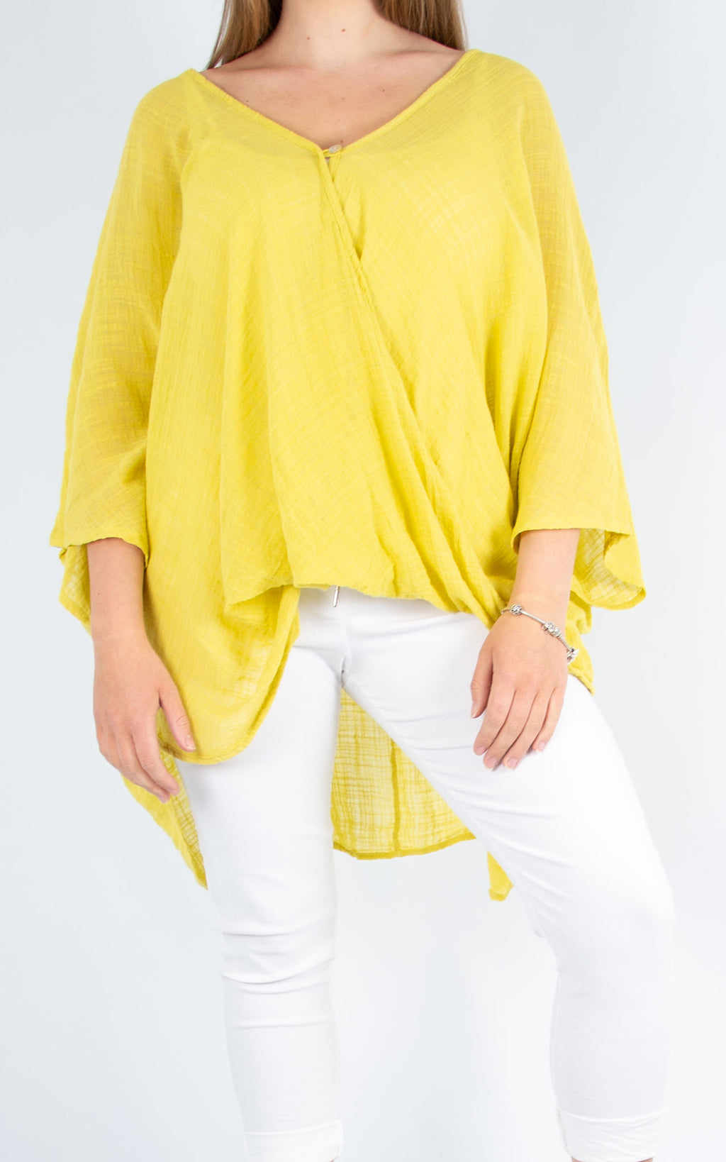 One Button Top - Lime