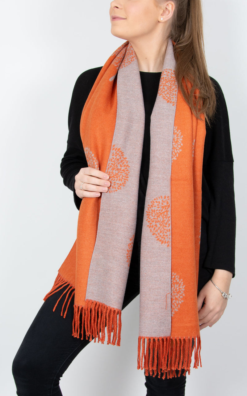 Orange Blanket Scarf - Mulberry Tree