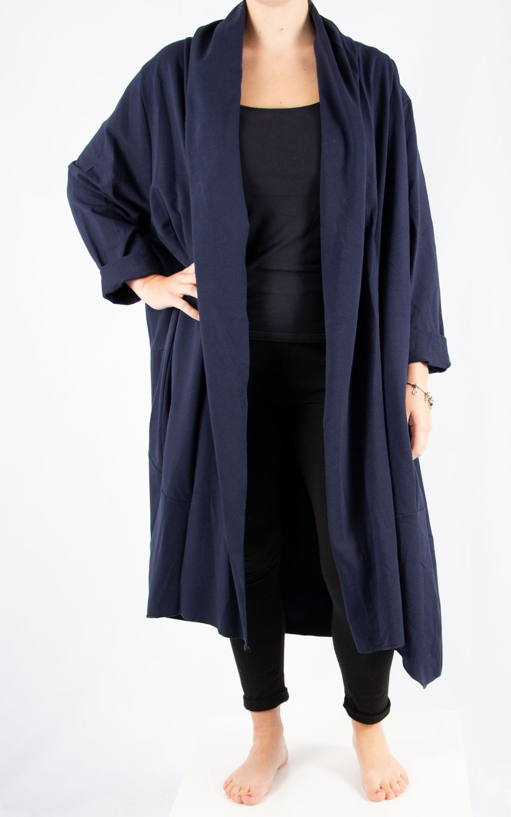 Navy Loose Overcoat